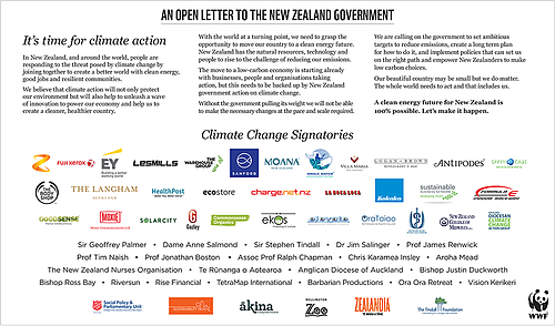 Climate open letter