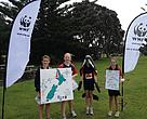 Pupils from a number of Auckland junior schools were inspired to protect the last 55 Maui's dolphins at the Sustainability Challenge in May.