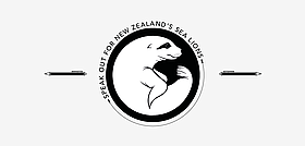 Icon of NZ sea lion in circle with words 'speak out for NZ sea lions'  / ©: Ethan Attewell / WWF