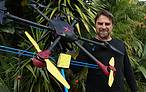Philip Solaris with Drone Counts prototype<br />&copy;&nbsp;Drone Counts