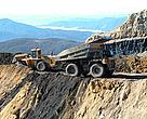 Earthmover at Stockton Mine, on the South Island's West Coast