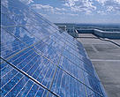 Solar panel on roof of Sustainable Energy Development Authority Office, Sydney, Australia